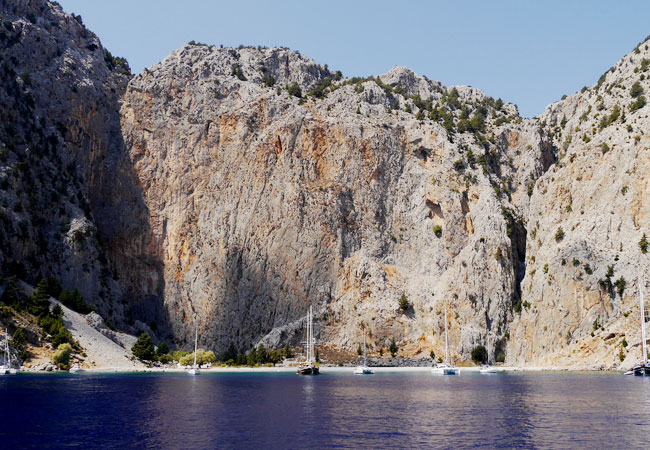 Symi, beaches accessible only by sea